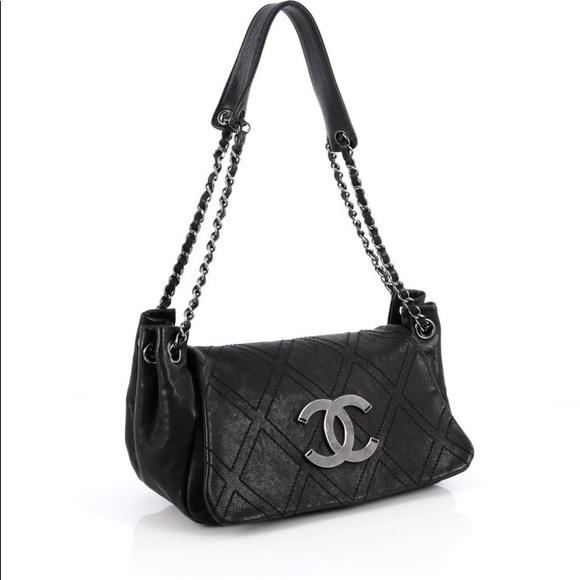 CHANEL Bags   Diamond Stitched Accordian Shoulder Bag   Poshmark 4ea7b3a2bf